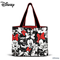 Disney Mickey Mouse And Minnie Mouse Tote Bag
