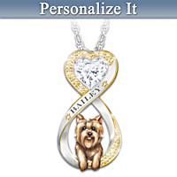 Always In My Heart Yorkie Personalized Pendant Necklace