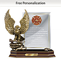 A Firefighter\'s Honor Personalized Sculpture