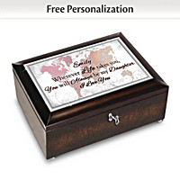 My Daughter Always, Wherever You Go Personalized Music Box