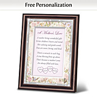 A Mother's Love Personalized Poem Frame