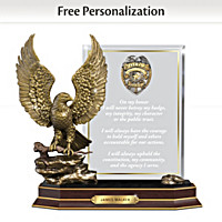 An Officer\'s Honor Personalized Sculpture