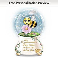 Granddaughter, I Bee-lieve In You Personalized Glitter Globe