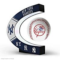 New York Yankees Levitating Baseball Sculpture