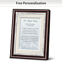 On Angels\' Wings Personalized Poem Frame