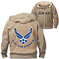 Military Pride Air Force Men\'s Hoodie
