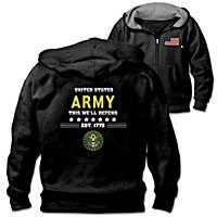 Military Pride U.S. Army Men\'s Hoodie