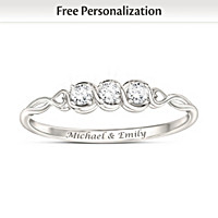 Love\'s Faithful Promise Personalized Diamond Ring