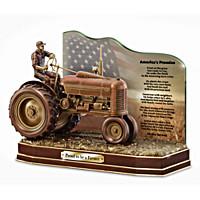 American Farmer Cold-Cast Bronze Tribute Sculpture