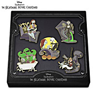 Disney Tim Burton\'s The Nightmare Before Christmas Pin Set