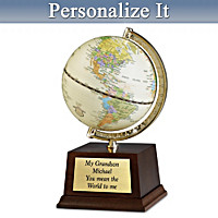 My Grandson, You Mean The World To Me Personalized Globe