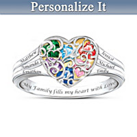 Heart Full Of Love Personalized Ring