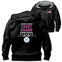 Military Pride U.S. Coast Guard Men\'s Hoodie