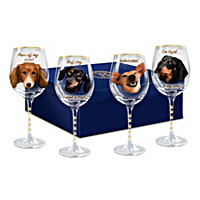 Time To Un-Wined Dachshund Wine Glass Set