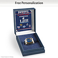 New England Patriots Super Bowl LIII Personalized Fan Ring