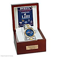 Unrivaled Legends New England Patriots Men\'s Diamond Watch