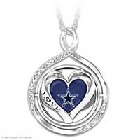 My Heart Flips For The Cowboys Flip Pendant Necklace