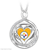 My Heart Flips For The Steelers Flip Pendant Necklace