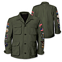 """""""American Pride"""" Men's Field Jacket With Patriotic Patches"""