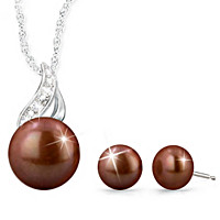 Sweetest Kiss Cultured Pearl Pendant Necklace & Earrings Set