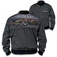 Live To Ride Men\'s Jacket