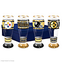 Pittsburgh Steelers Pilsner Glass Set