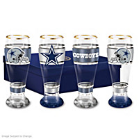Dallas Cowboys Pilsner Glass Set