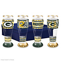 Green Bay Packers Pilsner Glass Set
