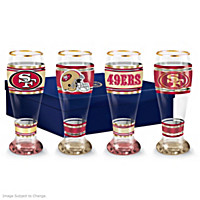 San Francisco 49ers Pilsner Glass Set