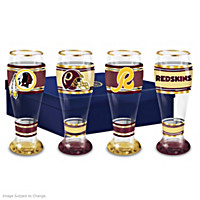 Washington Redskins Pilsner Glass Set