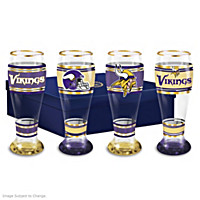 Minnesota Vikings Pilsner Glass Set