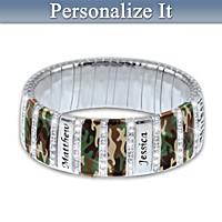 Camo Personalized Bracelet