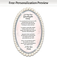 Pearls Of Wisdom Personalized Poem Frame