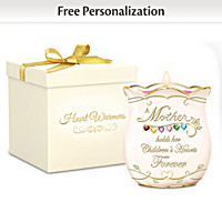 A Mother's Love Personalized Candleholder