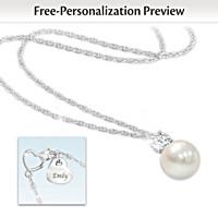 Precious Daughter Personalized Pendant Necklace