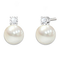 Precious Daughter Cultured Pearl And Diamond Earrings