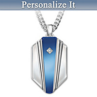 My Son, My Hero Personalized Diamond Pendant Necklace