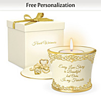 Our Love Story Personalized Candleholder