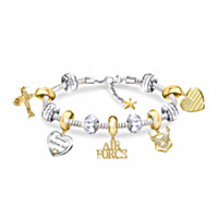 Pride Of The Air Force Charm Bracelet
