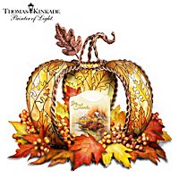 Thomas Kinkade Harvest Home - Give Thanks Table Centerpiece