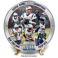 Super Bowl LIII Champions Patriots Collector Plate