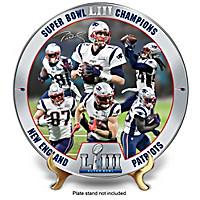 Super Bowl LIII Champions Patriots Collector Plate