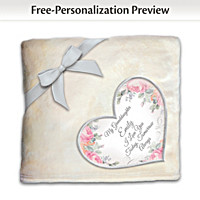 Granddaughter, You Warm My Heart Personalized Blanket