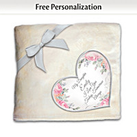 Daughter, You Warm My Heart Personalized Blanket