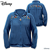 Disney Mickey Mouse & Minnie Mouse Happiest Together Women\'s Jacket