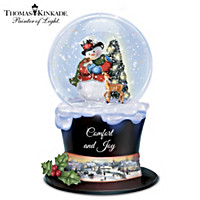 Thomas Kinkade Tip Top Holiday Snowglobe