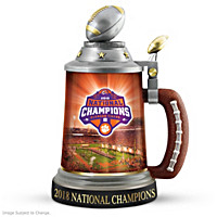 Clemson Tigers 2018 Football National Championship Stein