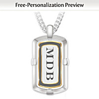 Son Wherever You Go Personalized Diamond Pendant Necklace