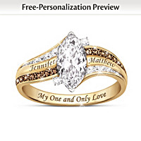 My One And Only Love Personalized Topaz And Diamond Ring