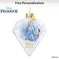 Disney Believe In The Journey Elsa Personalized Ornament